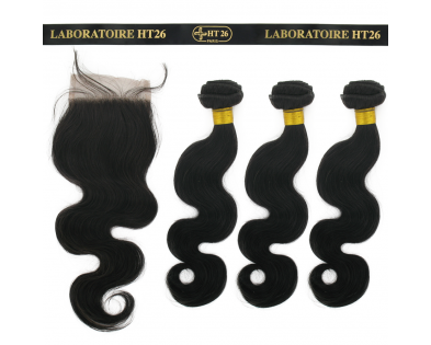 Closure 16'' + 3 Tissages 18'' Body Wave